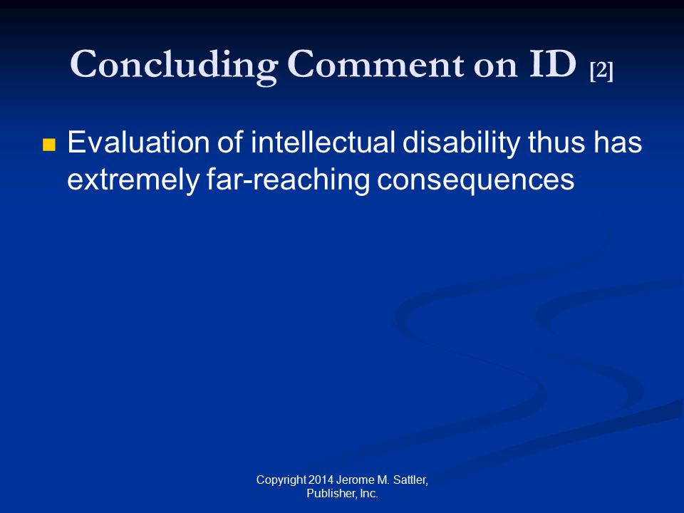 Concluding Comment on ID [2]